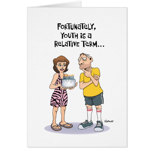 Funny 50th Birthday Greeting for Him Card