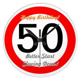 Funny 50th Birthday Joke 50 Road Sign Speed Limit Clocks