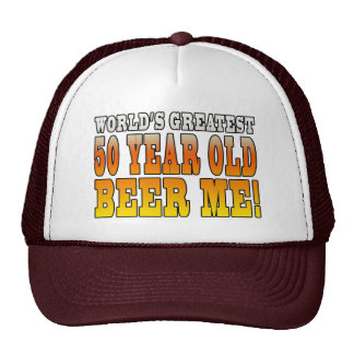 Funny 50th Birthdays : Worlds Greatest 50 Year Old Mesh Hat
