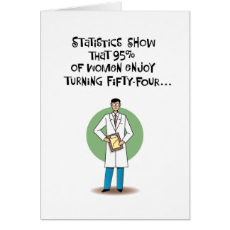 Funny 54th Birthday Card