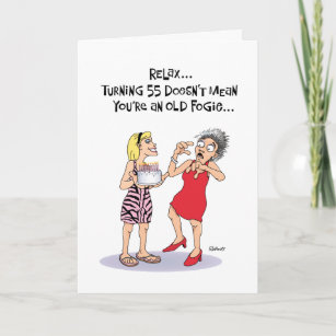 Funny 55th Birthday Card
