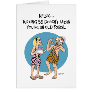 Funny 55th Birthday Card for Him