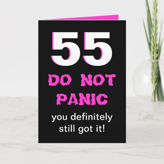 Funny 55th Birthday Card For Women