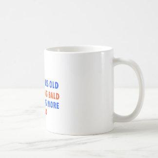 funny 60 years old not bald basic white mug
