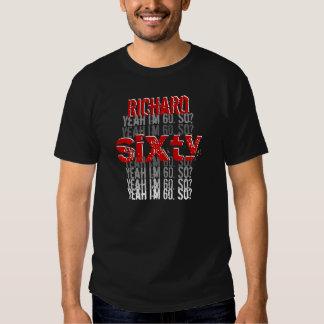 Funny 60th Birthday Custom Name Black Red White Shirts