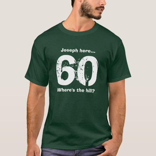 Funny 60th Birthday Gift Over the Hill Custom
