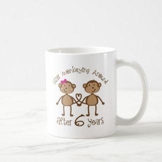 Funny 6th Wedding Anniversary Gifts Basic White Mug