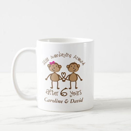 Funny 6th Wedding Anniversary His Hers Mugs