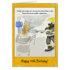 Funny 70th Birthday Card For Men: Candles...