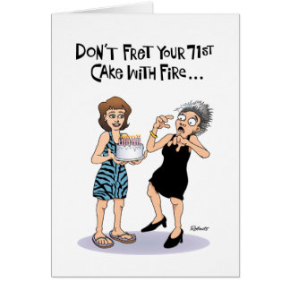 Funny 71st Birthday Card