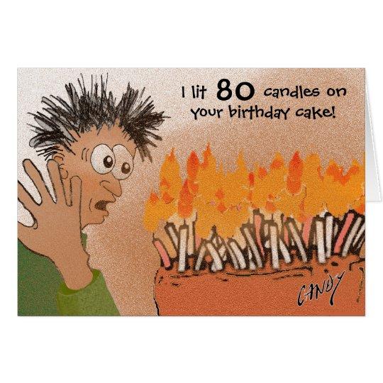 Funny 80th birthday card. card
