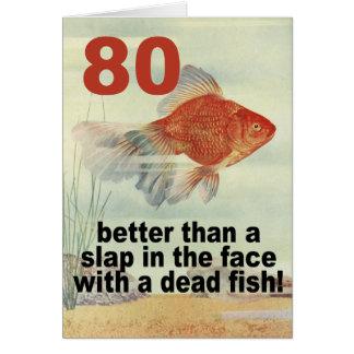 Funny 80th Birthday Greeting Card