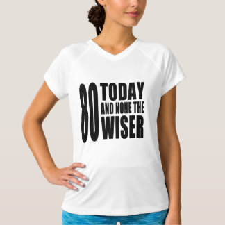 Funny 80th Birthdays : 80 Today and None the Wiser Tees