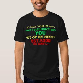 Funny 867-5309 Phone Black T-Shirt