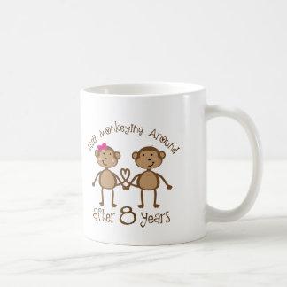 Funny 8th Wedding Anniversary Gifts Basic White Mug