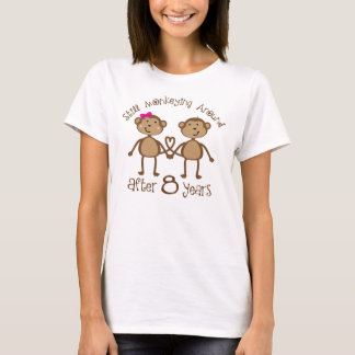 Funny 8th Wedding Anniversary Gifts T-Shirt