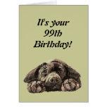 Funny 99th Birthday Customise Labrador Retriever Greeting Card