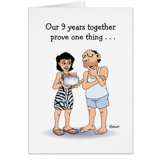 9th anniversary gifts t shirts art posters other gift ideas funny 9th anniversary card love card negle Choice Image