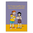 Funny 9th Anniversary Card: Weird and Wonderful Card