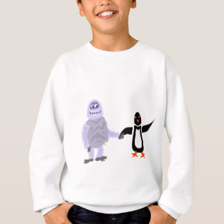 Funny Abominable Snowman and Penguin Love Art Sweatshirt