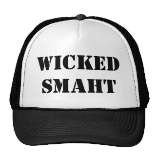 Funny Accent Yankee Wicked Smart Smaht Bostonian Cap
