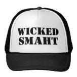 Funny Accent Yankee Wicked Smart Smaht Bostonian Trucker Hats