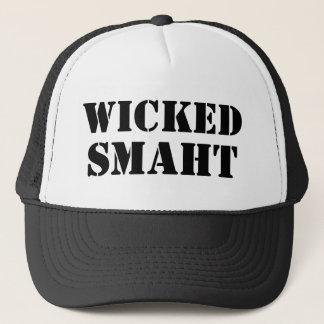 Funny Accent Yankee | Wicked Smart Smaht Bostonian Trucker Hat