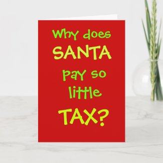 Funny Accountant Christmas Card Santa Tax Joke