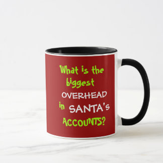 Funny Accounting Christmas and Santa Joke Mug