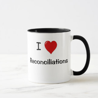 Funny Accounting Mug - I Heart Reconciliations