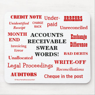 Funny Accounts Receivable Swear Words! AR Joke Mouse Mat