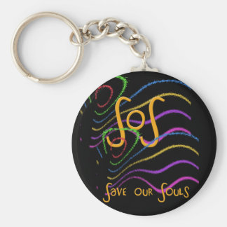 Funny Acronyms- SOS Basic Round Button Key Ring