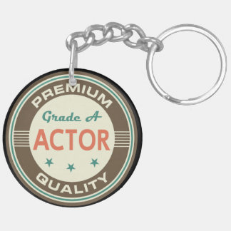 Funny Actor (Premium Quality) Gift Double-Sided Round Acrylic Key Ring