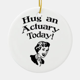 Funny Actuary Christmas Ornament