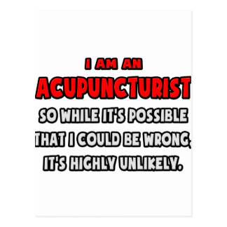 Funny Acupuncturist .. Highly Unlikely Postcards