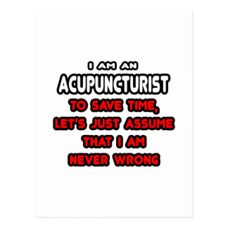 Funny Acupuncturist T-Shirts and Gifts Postcards