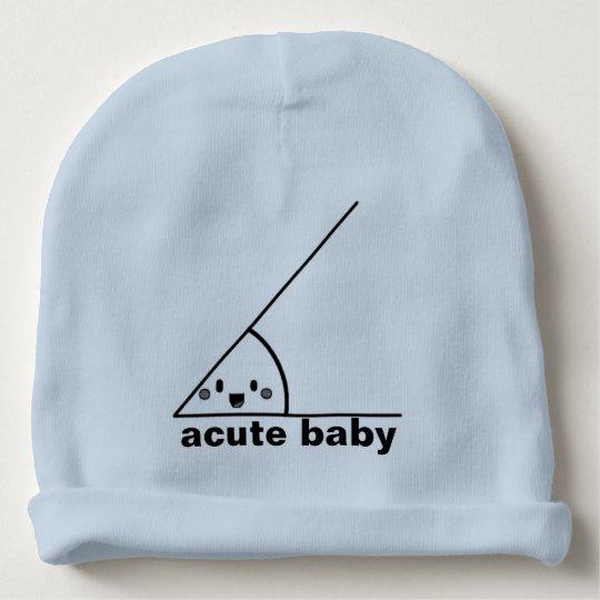 b1bbf015209 Funny acute angle geeky baby beanie