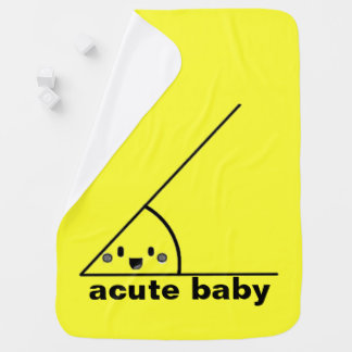 Funny acute angle geeky baby blanket