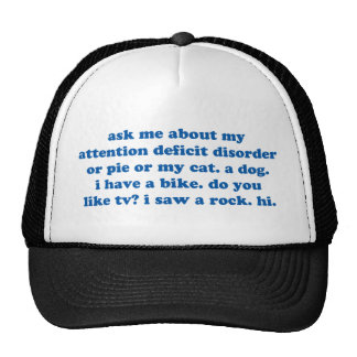 Funny ADD ADHD Quote - Blue Print Hats