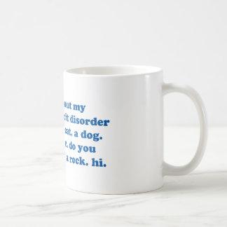 Funny ADD ADHD Quote - Blue Print Basic White Mug