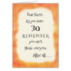 Funny Add Name or Any Age Pizza Humour Greeting Card
