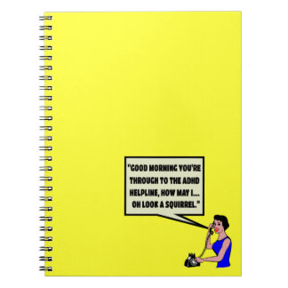 Funny ADHD Notebooks