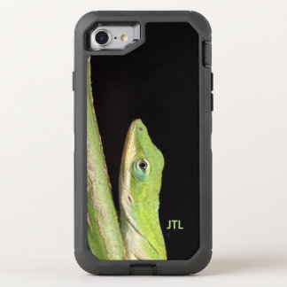 Funny Adorable Green Anole Lizard OtterBox Defender iPhone 8/7 Case