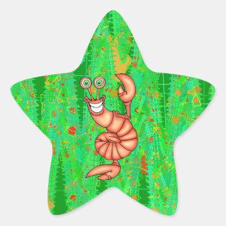 Funny Aerobic Lobster Star Sticker