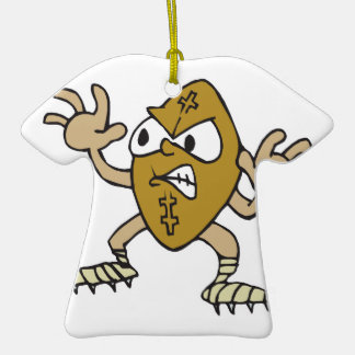 funny aggressive mean football cartoon character christmas ornaments
