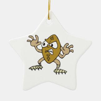 funny aggressive mean football cartoon character christmas tree ornaments