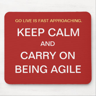 Funny Agile Project Manager Gift Keep Calm Joke Mouse Mat