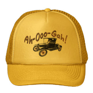 Funny Ah-Ooo-Gah Antique Car Horn Rusty Yellow Cap