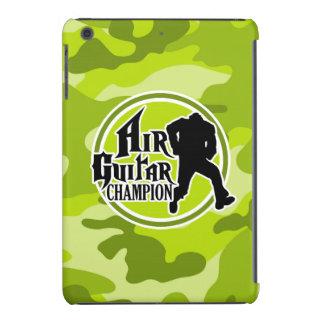 Funny Air Guitar bright green camo camouflage iPad Mini Covers