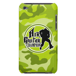 Funny Air Guitar bright green camo camouflage iPod Case-Mate Case